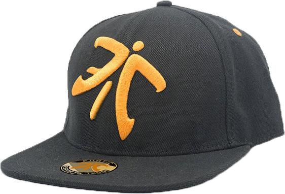 Fnatic Snapback sapka narancssárga Logo - fekete karima 2