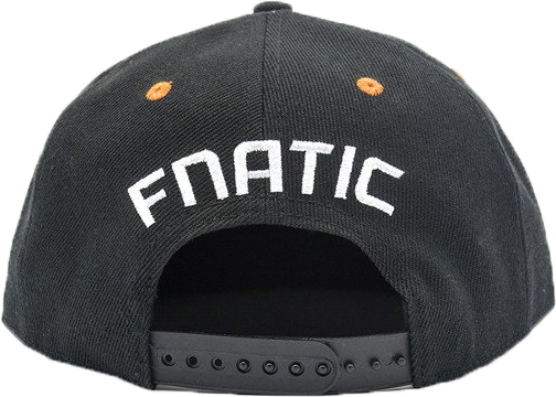 Fnatic Snapback sapka narancssárga Logo - fekete karima 1