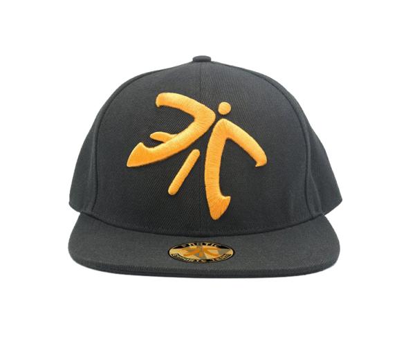 Fnatic Snapback sapka narancssárga Logo - fekete karima