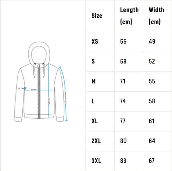 Fnatic játékos kabát 2019 méret táblázat