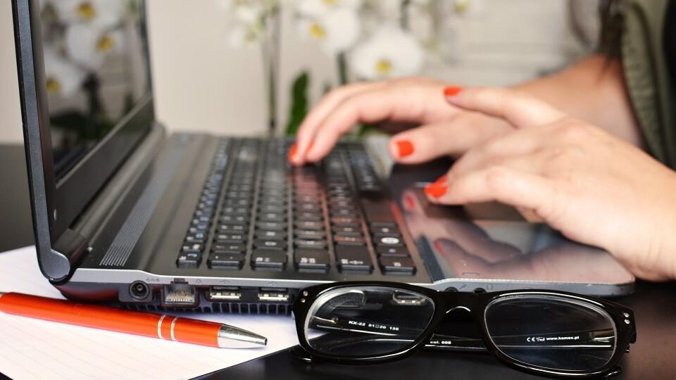 Woman with Keyboard