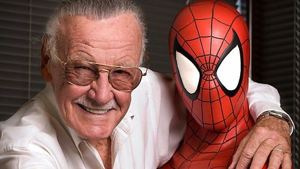 Stan Lee with Spiderman